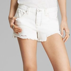 Free People Shorts Rugged Ripped In Polar White